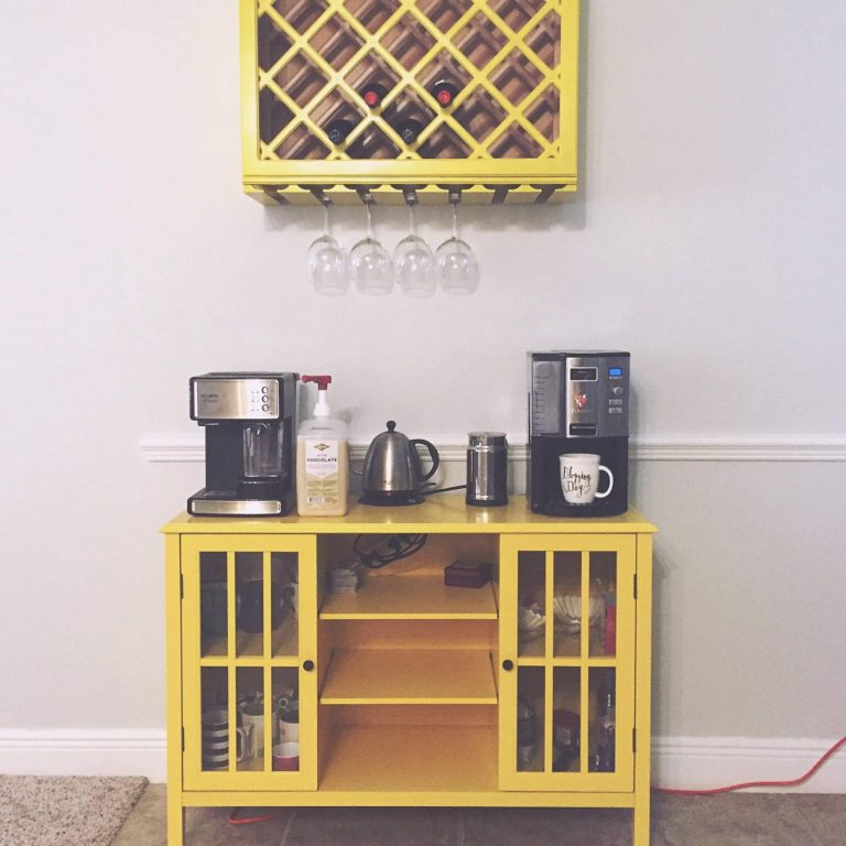 Yellow Coffee Bar Station Ideas