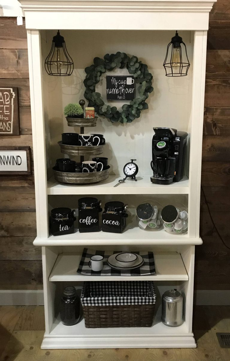 reuse cupboard as a coffee station